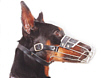 "Doberman Dog Large size Wire Muzzle 5""length and11"" Circ"